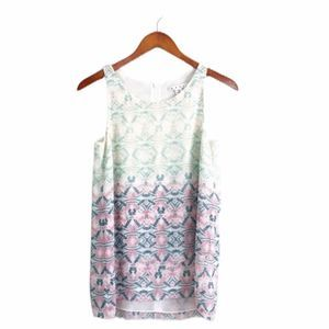 Cabi Colorful Flowy Tank Top